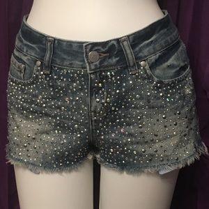 Rhinestone Distressed Victoria's Secret Shorts